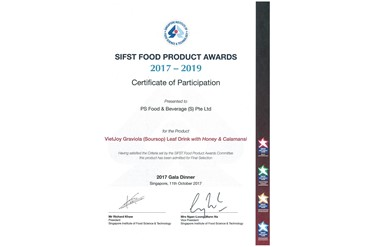 SIFST Food Product Award 2017-2019